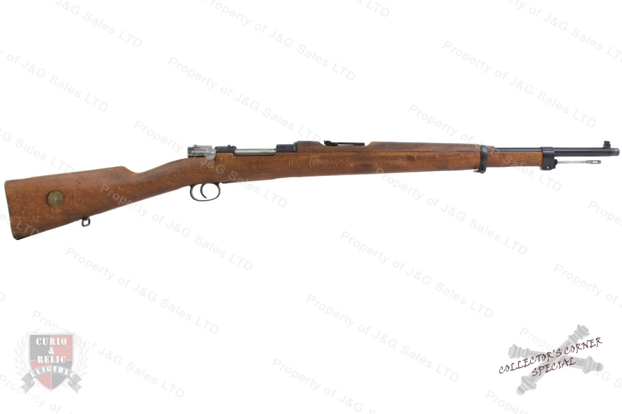 "Swedish 1938/96 Mauser Bolt Action Rifle, 6.5x55, 24"" Barrel, 1916 Mfg, C&R, VG+, Used."