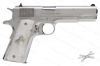 "Colt 1911 Government Custom Model O Semi Auto Pistol, 38 Super, 5"" Barrel, Bright Stainless, Faux Pearl Grips, New."