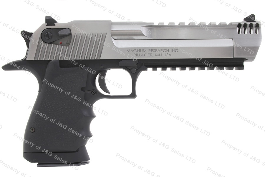 Magnum Research Desert Eagle MK XIX Semi Auto Pistol, 50AE, Stainless Steel, New.