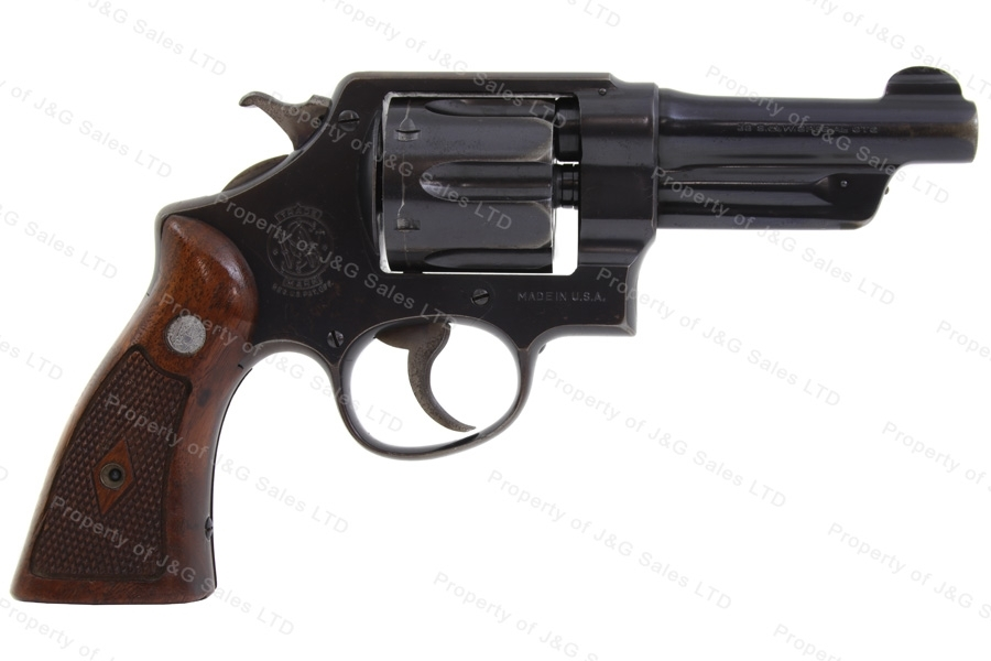 "Smith & Wesson 38/44 Heavy Duty Revolver, 38 Special, 4"" Barrel, C&R, G-VG, Used, S&W."