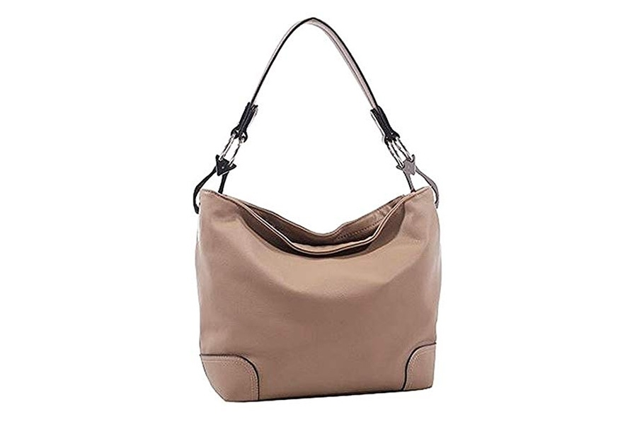 Jessie James Western Fashion Concealed Carry Purse, Lydia Hobo Bag, Light Taupe-Stone.