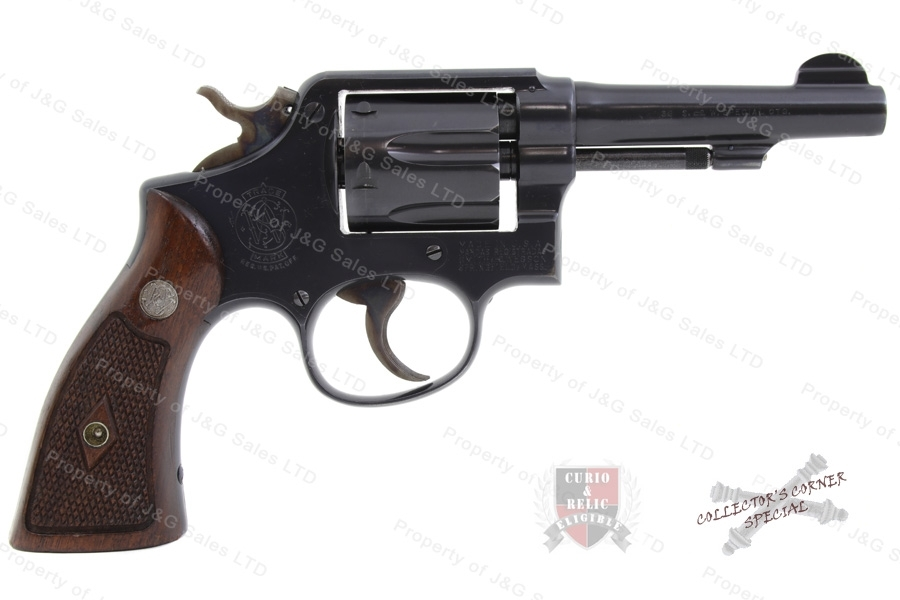"Smith & Wesson M&P Revolver, 38 Special, 4"" Barrel, 5-Screw, C&R, Excellent, Used, S&W."
