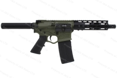 "ATI OMNI Maxx Hybrid Semi Auto Pistol, 5.56/223, 7.5"" Barrel, Battlefield Green, New."