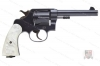 Colt New Service Revolver, 455 Eley, 5.5 Barrel, Faux Pearl Grips, C&R, G-VG, Used.