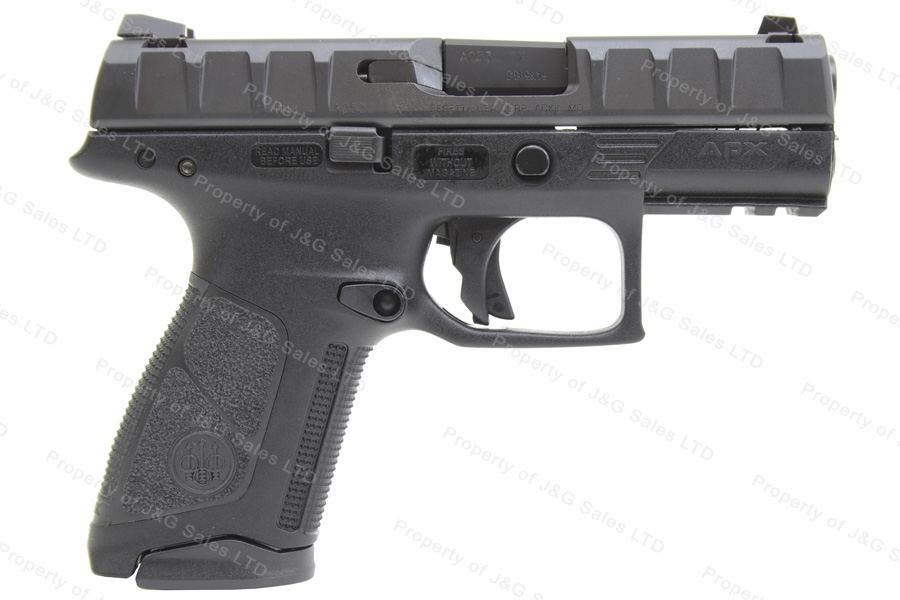 "Beretta APX Centurion Semi Auto Pistol, 9mm, 3.7"" Barrel, Black, Two 15rd Magazines, New."
