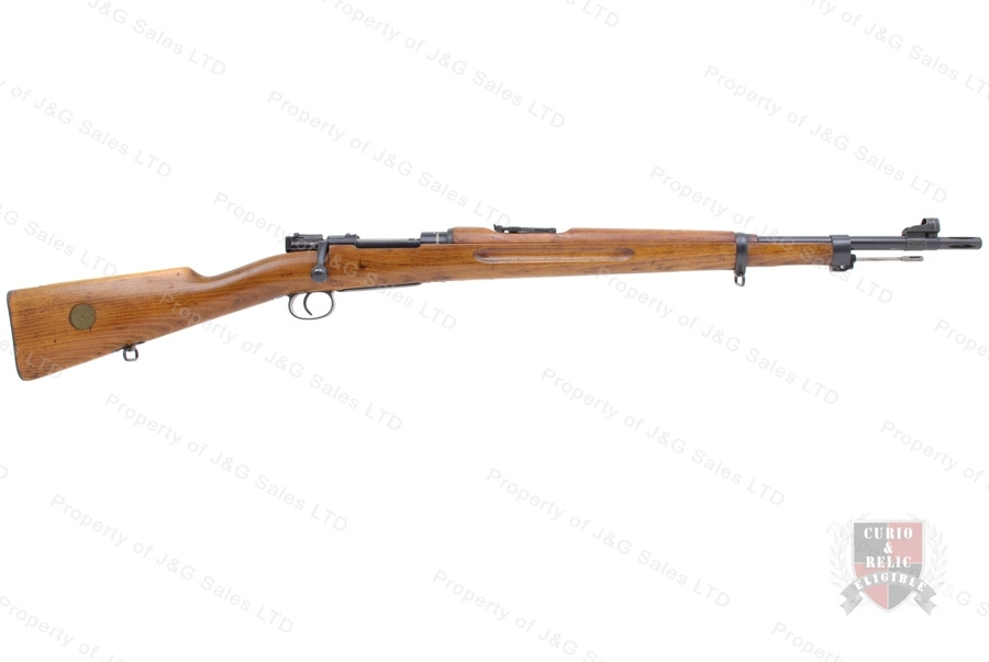 "Swedish 1938 Mauser Bolt Action Rifle, 6.5x55, 24"" Barrel, 1942 Mfg, C&R, G-VG, Used."