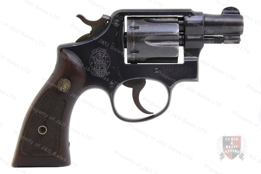 "Smith & Wesson M&P Revolver, 38 Special, 2"" Barrel, 5-Screw, C&R, G-VG, Used, S&W."