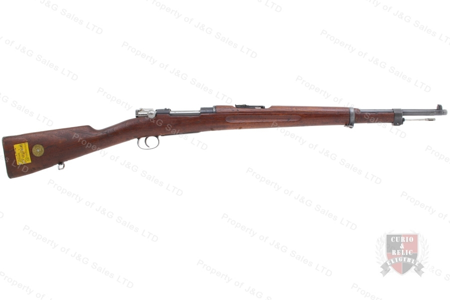 "Swedish 1938/96 Mauser Bolt Action Rifle, 6.5x55, 24"" Barrel, 1916 Mfg, C&R, G-VG, Used."