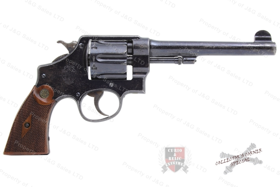 "Smith & Wesson 455 Hand Eject MKII Revolver, 45 Auto Rim, 2nd Model, 6.5"" Barrel, Blued, C&R, Used."