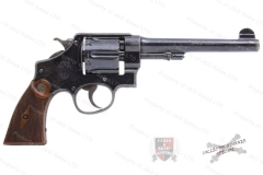 "Smith & Wesson 455 Hand Ejector MKII Revolver, 45 Auto Rim, 2nd Model, 6.5"" Barrel, Blued, C&R, Used."