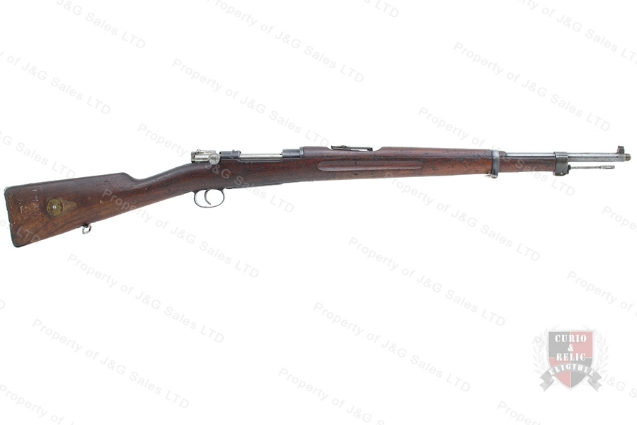 "Swedish 1938/96 Mauser Bolt Action Rifle, 6.5x55, 24"" Barrel, 1901 Mfg, C&R, G-VG, Used."