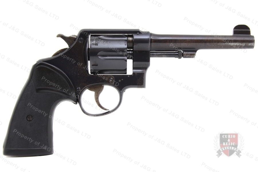"Smith & Wesson 1917 Revolver, 45 Long Colt, 5.5"" Barrel, C&R, G-VG, Used, S&W."