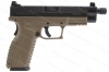 "Springfield Armory XDM Semi Auto Pistol, 9mm, 5.28"" Threaded Match Barrel, Black Slide, FDE Frame, New."