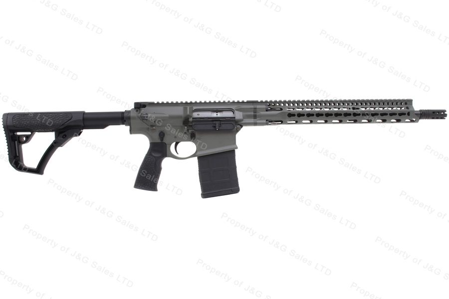 "Daniel Defense DDM5V1 Pro Semi Auto Rifle, 7.62/.308, 16"" Barrel, Deep Woods Cerakote, New."