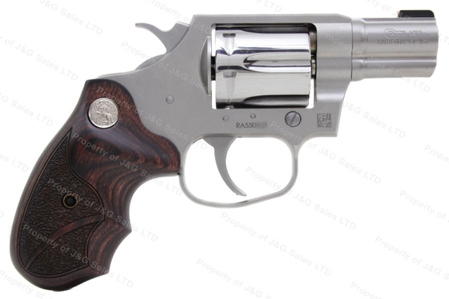 "Colt Cobra Revolver, 38 Special+P, 2"" Barrel, Matte & Polished Stainless Steel, New."