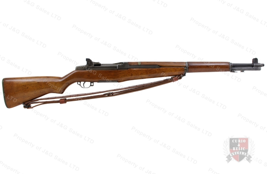 M1 Garand Semi Auto Rifle, 308-7.62x51, Springfield Receiver and Barrel, VG+, C&R, Used.