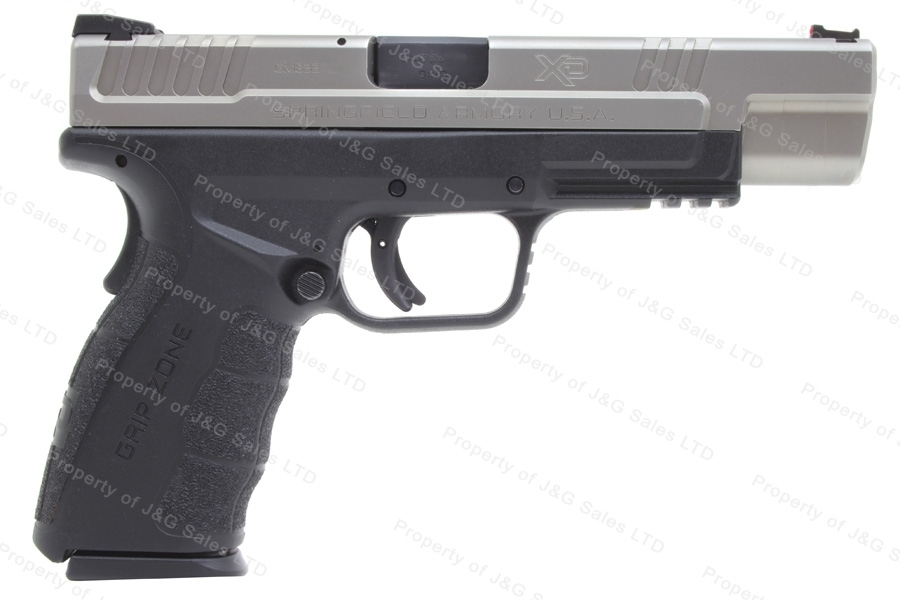 "Springfield XD9 Mod 2 Semi Auto Pistol, 9mm, 5"" Barrel, Stainless Slide, Excellent, Used."