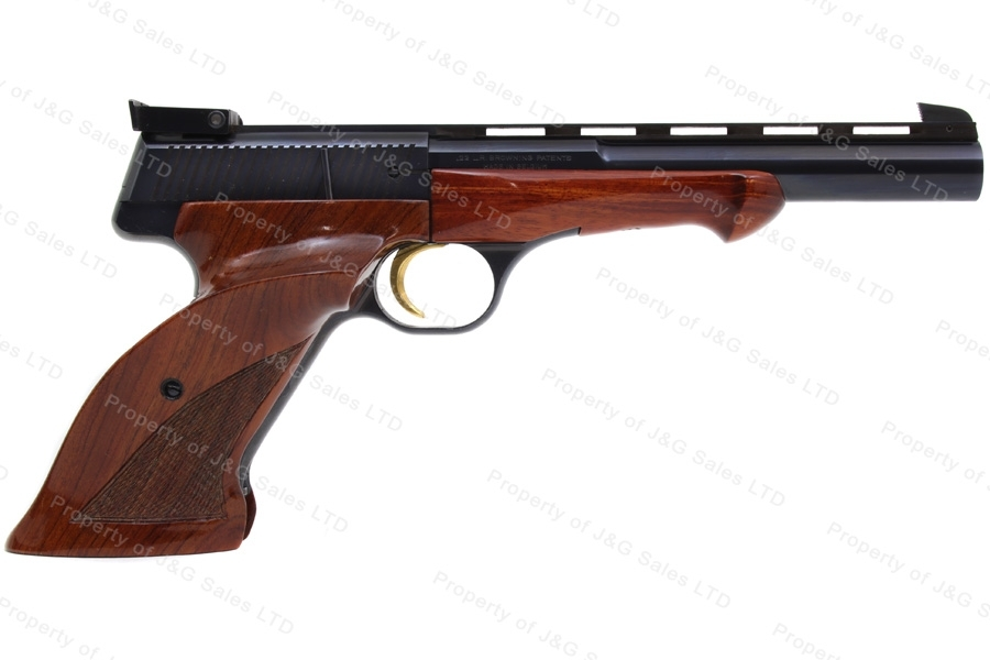 "Browning Medalist Semi Auto Pistol, 22LR, 6.75"" Vent Rib Barrel, Thumbrest Grip, VG+, Used."