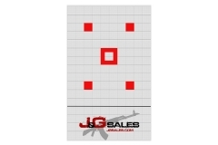 J&G Precision Grid Targets, 20 Pack, 12x18, Heavy Grade Paper, with 5 Bulls.