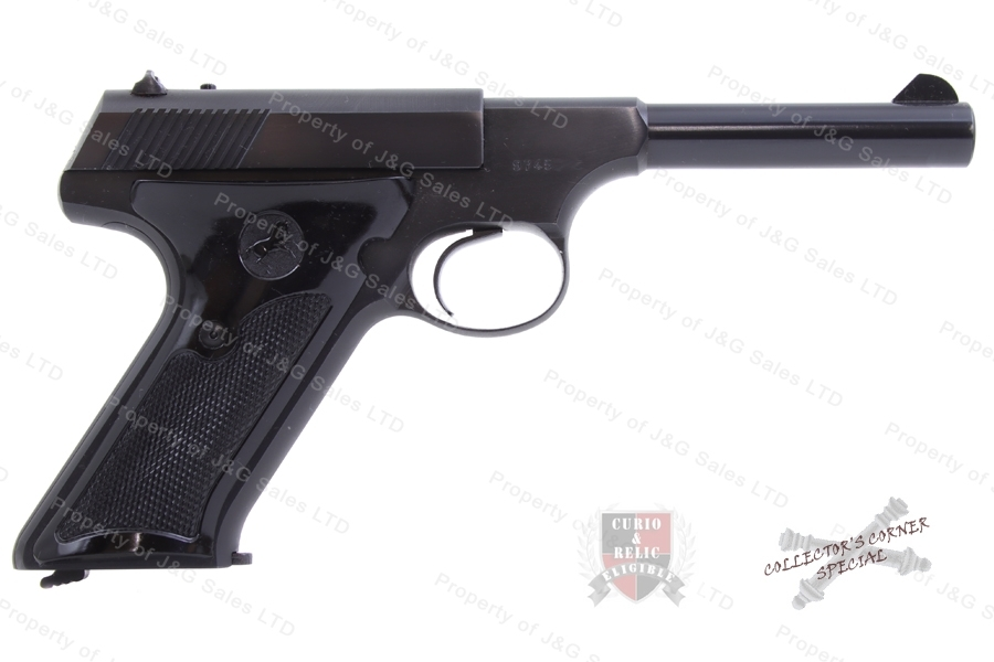 "Colt Huntsman Semi Auto Pistol, 22LR, 4.5"" Barrel, C&R, VG+, Used."