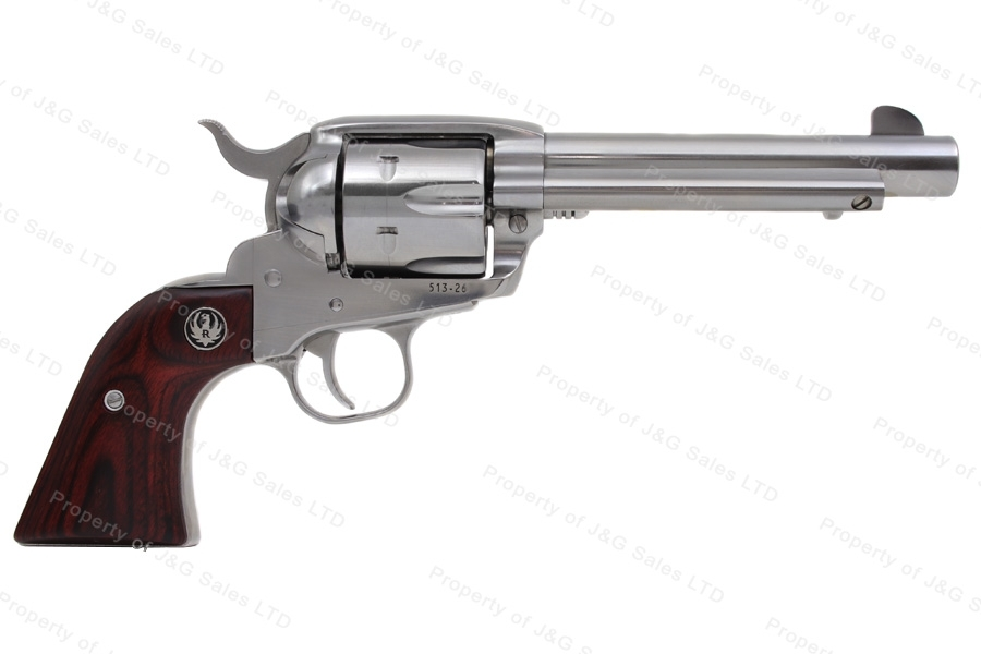 "Ruger® New Vaquero® Revolver, 45LC & 45ACP, 5.5"" Barrel, High Gloss Stainless, New."