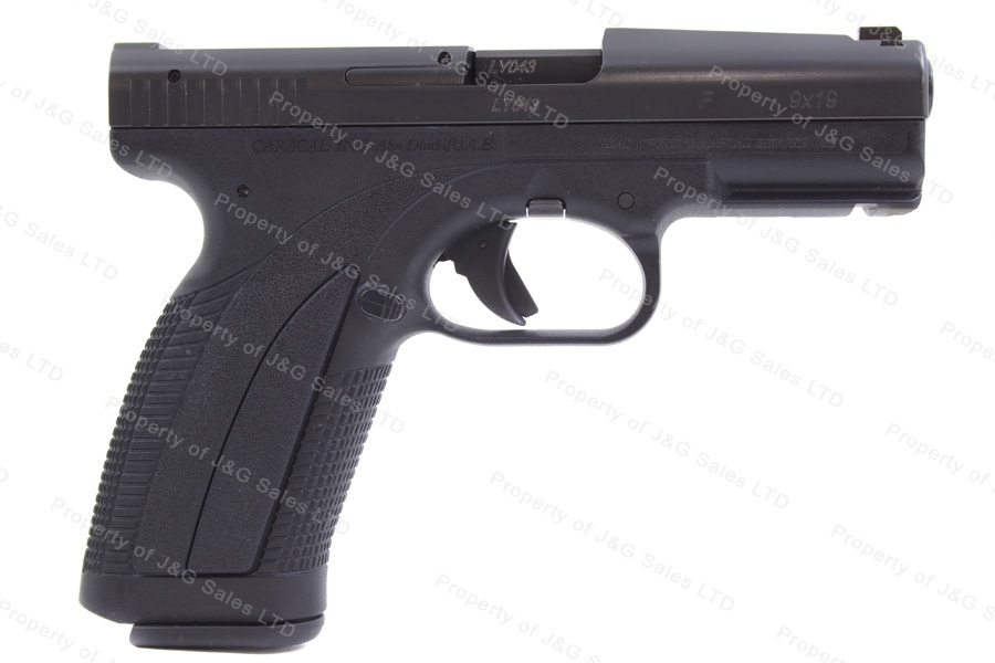 "Caracal Model F Quick Sight Semi Auto Pistol, 9mm, 4"" Barrel, Excellent, Used."