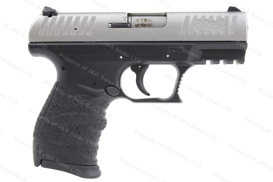"Walther CCP M2 Semi Auto Pistol, 9mm, 3.5"" Barrel, Black Frame, Stainless Slide, New."