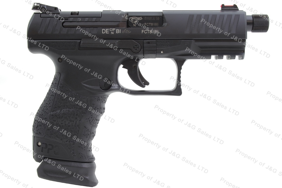 "Walther PPQ M2 Q4 Tactical Semi Auto Pistol, 9mm, 4.6"" Barrel, Optic Ready with Plates, New."