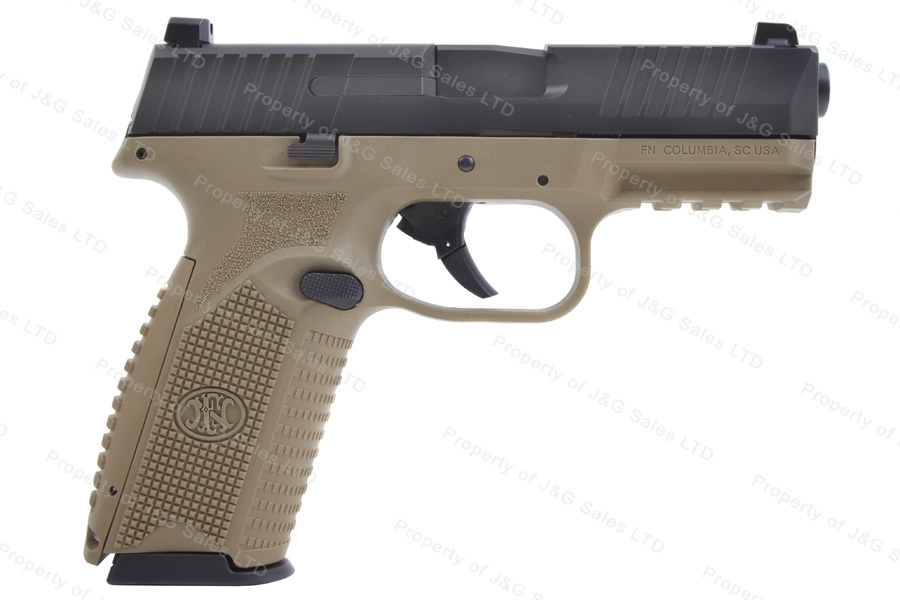 "FN 509 Semi Auto Pistol, 9mm, 4"" Barrel, Tan and Black, Excellent, Used."