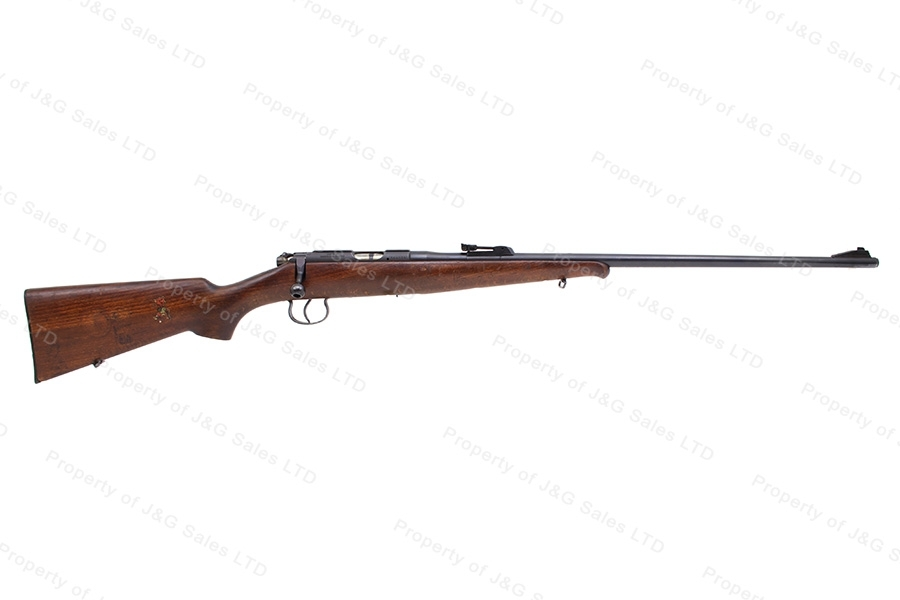 BRNO #2 Bolt Action Rifle, 22LR Caliber, Blued, Wood Schnabel Stock, VG, Used.