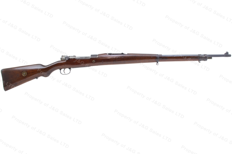 "Brazilian 1908 Mauser Bolt Action Rifle, 7x57, 29"" Barrel, C&R, G-VG, Used."