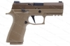 "Sig Sauer P320XCA X Carry Semi Auto Pistol, 9mm, 3.9"" Barrel, Night Sights, Coyote Finish, New."