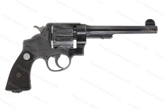 "Smith & Wesson 455 Hand Ejector MKII Revolver, 45 Auto Rim, 6.5"" Barrel, Walnut Grips, C&R, VG, Used, S&W."