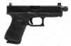 Glock 19 9mm Gen 5 Semi Auto Pistol, Threaded Barrel, Suppressor Height Sights, nDLC Finish, Black, New.
