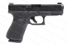 Glock 19 9mm Gen 5 Semi Auto Pistol, Night Sights, nDLC Finish, Front Slide Serrations, Black, New.