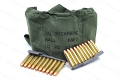 30 Carbine PSD Korean 110gr FMJ Ammo, In Bandoleers of 120rds.