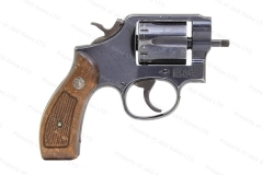 Smith & Wesson 10 Revolver, 38 Special, No Barrel, Round Butt, GSS, CAI Mark, Used, S&W.