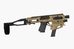 CAA MCK Glock Gen2 Micro Conversion Kit Chassis With Brace, FDE Tan, New.