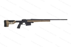 "Howa M1500 Bolt Action Rifle, 300Win, 26"" Heavy Barrel, Black, ORYX FDE/Black Chassis, New."