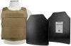 Plate Carrier Vest Discreet Series, with Two Hard Ballistic 11x14 Panels, Level IIIA, 2975 by VISM, Tan.