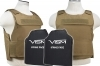 Plate Carrier Vest Discreet Series, with Two Soft Ballistic 10x12 Panels, Level IIIA, 2975 by VISM, Tan.