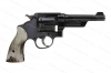 "Smith & Wesson 38/44 Heavy Duty, 38 Special, 5"" Barrel, Vintage Ajax Stag Grips, C&R, GSS, Used, S&W."