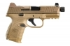 "FNH 509C Tactical Semi Auto Pistol, 9mm, 4.3"" Threaded Barrel, FDE, New."