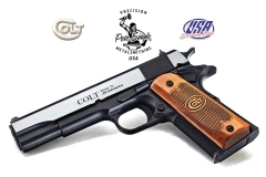 "Colt 1911 Government USA Classic Series 70 Semi Auto Pistol, 45ACP, 5"" Barrel, Blued, TALO, New."