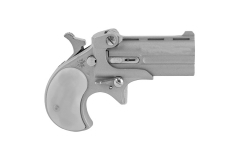 "Bearman CL22L Derringer, 22LR, 2.4"" Barrel, Satin Silver, Silver Pearl Grips, New."