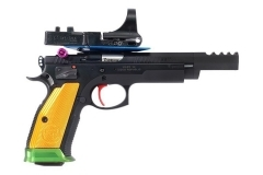CZ 75 Czechmate Parrot Semi Auto Pistol, 9mm, Full Package with Optic, New.