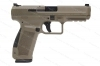 Canik TP9-SF Elite 9mm Semi Auto Pistol, Single Action, FDE, By CAI, New.