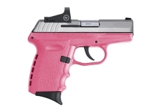SCCY CPX-2 TTPKRD Semi Auto Pistol, 9mm, Pink and Stainless, CT Dot Sight, New.