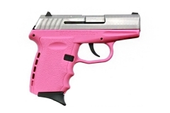 SCCY CPX-2 TTPK Semi Auto Pistol, 9mm, Stainless and Pink, New.
