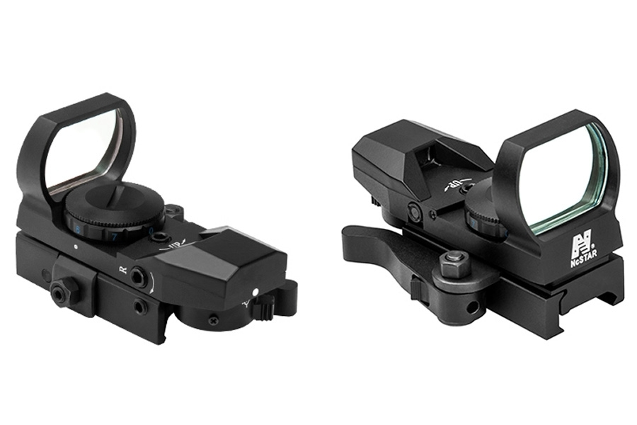 NcStar Panoramic Head-Up Red Four Reticle Reflex Sight for Picatinney Rail. D4B.